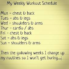 schedule weekly weekly workout schedule fitness part iii pinterest weekly