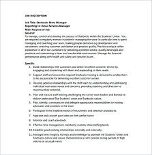 Store Manager Job Description For Starbucks Free Assistant Store