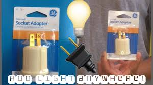 Light Bulb Plug Adapter Home Depot Ge Polarized Socket Adapter From Home Depot