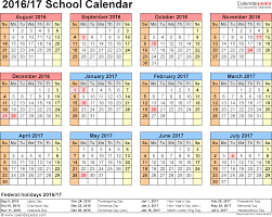 School Calendar Template 24 School Calendar 2424 For Word Landscape Orientation 3