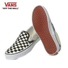 Vans Slip On Size Chart Details About Vans Classic Slip On White Black Checker Street Style Fashion Sneakers Shoes