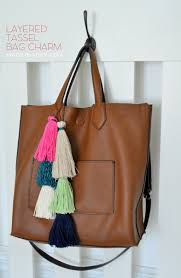 how to make a layered tassel bag charm