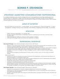 Digital Communications Resume Bonnie Stevenson Marketing Communications Strategist Resume