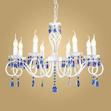 blue crystal chandelier modern crystal chandelier for kitchen bedroom hanging dark blue crystal chandelier