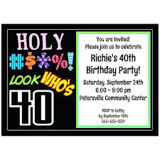 40th Birthday Invitation Ideas Printable Birthday Party Invitations