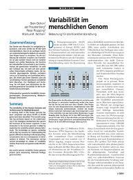 Variabilit T Im Menschlichen Genom Bedeutung F R Die
