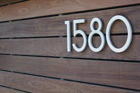 modern mailbox numbers. Simple Numbers Modern House Numbers Wood Siding  And Modern Mailbox Numbers E