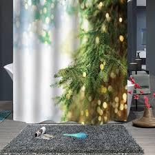 <b>Christmas Print Waterproof</b> Breathproof Mild Bathroom Shower ...