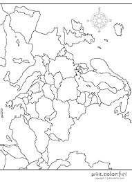 Europe Coloring Page Printable Blank Map Quiz Printable Coloring