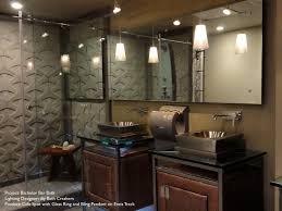 bathroom track lighting master bathroom ideas. Bruck Lighting Bling II Pendants. Great For The Ultimate Bachelor Bathroom. Bathroom Track Master Ideas L