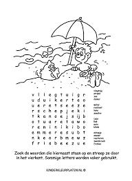 Kleurplaat Woordzoeker Spelletjes