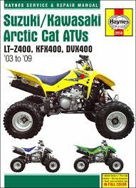 watch more like 2004 kfx 400 service manualsonline manuals >> service repair >> motorcycle manuals >> suzuki atv repair