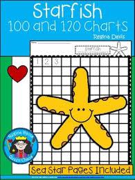 Starfish Chart A Sea Star Or Starfish Numbers 100 And 120 Chart