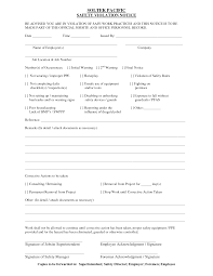 notice of violation template safety violation form template dlsource