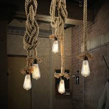 industrial lighting chandelier. Brilliant Industrial Rope Light Loft Lamp Industrial Lighting Chandelier In The Living Room  Pendant Lights Hanglamp Industrieel Retro Creative Style In From  To P