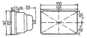 h6054 hella 200mm rectangular e code hi lo conversion headlamp kit Sylvania Headlight Restoration Kit Auto Zone H6054 Headlight Wiring Diagram #38