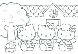 Connect The Dots Activity Coloring Pages Of Hello Kitty Disney Easy