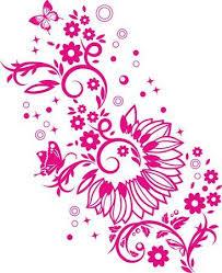 Clipart Design Butterflies On Flowers Clip Art Design Element Royalty Free Cliparts
