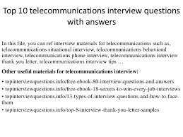 Retail Interview Questions Mesmerizing Top 48 Telecommunications Interview Questions With Answers