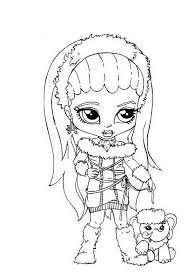 Small Picture Spectra Vondergeist Little Girl Monster High Coloring Page