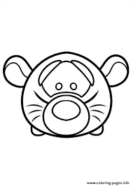 Free printable cute disney coloring pages. Cute Disney Tigger Tsum Tsum Coloring Pages Printable