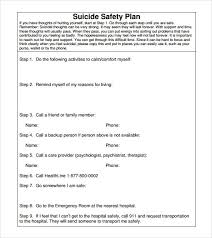sample safety plan safety plan template business template