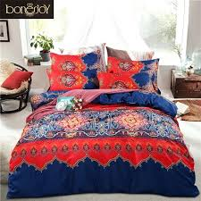 bonenjoy 2017 cotton polyester bohemian duvet covers boho king bedding sets quilt cover bedspread set bohemian