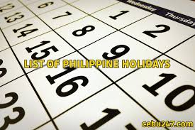 list of public holidays in the