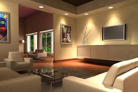 ceiling living room lighting in warm theme with recessed light type also rounded shape