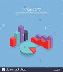 Isometric 3d Analysis Data Isometric Pie Chart Flat Design
