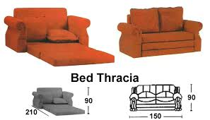 sofa lipat. sofa bed sentra type thracia lipat
