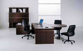 endearing luxury office furniture in modern design ideas for doing the task or meeting workspace with wooden table and cabinets also black task chairs arrange cool