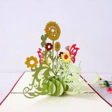 Teachers Birthday Card Details About 3d Flower Greeting Card Thanksgiving Birthday Teachers Day Gift Candy