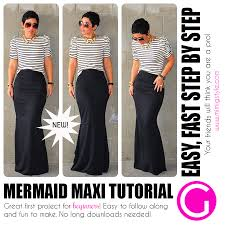 Mermaid Skirt Pattern Stunning MERMAID MAXI TUTORIAL Available NOW EASY FOR BEGINNERS Fashion