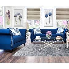 blue living room furniture ideas. furniture of america othello royal blue sofa set overstock shopping big discounts on living room sets ideas