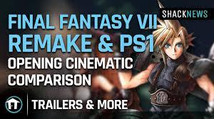Final Fantasy 7 Remake & PS1 opening ...