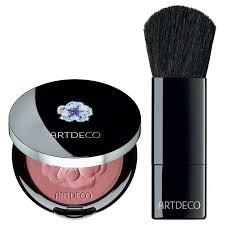 blush and brush. artdeco limited edition crystal garden blush and brush