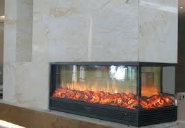 2 sided electric fireplace brilliant 1066600600 mm 3 led insert heater in within 12