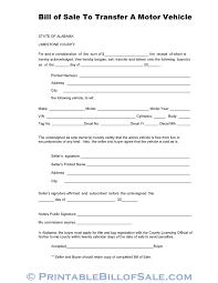 Copy Bill Of Sale Free Limestone County Alabama Vehicle Bill Of Sale Form