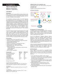 Subcloning Primer Design Flex C Cloning Kit Appleton Woods Ltd Manualzz Com