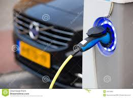 Electric Car At Charging Station Editorial Stock Image Image