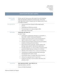Resume Samples For Truck Drivers New Truck Dispatcher Resume