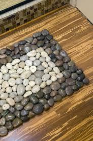 how to diy stone floor mat pebbles transform a simple doormat