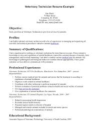 Job Resume Veterinary Assistant Resume Examples Free Vet