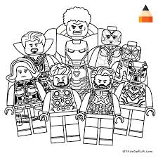 Iron man infinity war armour! Drawing Lego Avengers Infinity War