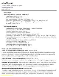 Sample Resume College 48 Sample Of High School Resume For College Application