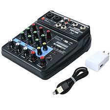 Amazon.com: Mini Audio Mixer Sound Board <b>Bluetooth</b> Music ...