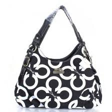 Coach Fashion Signature Medium Black Shoulder Bags ERH