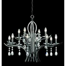 turin 12 light pendant ceiling light with clear crystal detail