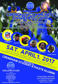 crenshaw football shawfootball twitter on this amazing opportunity to learn the game and process from current nfl players all are welcome pic com xm3zha5nrs at crenshaw high school